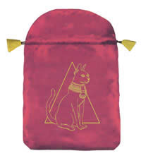 Tarot Bag Satin Egyptian Cat